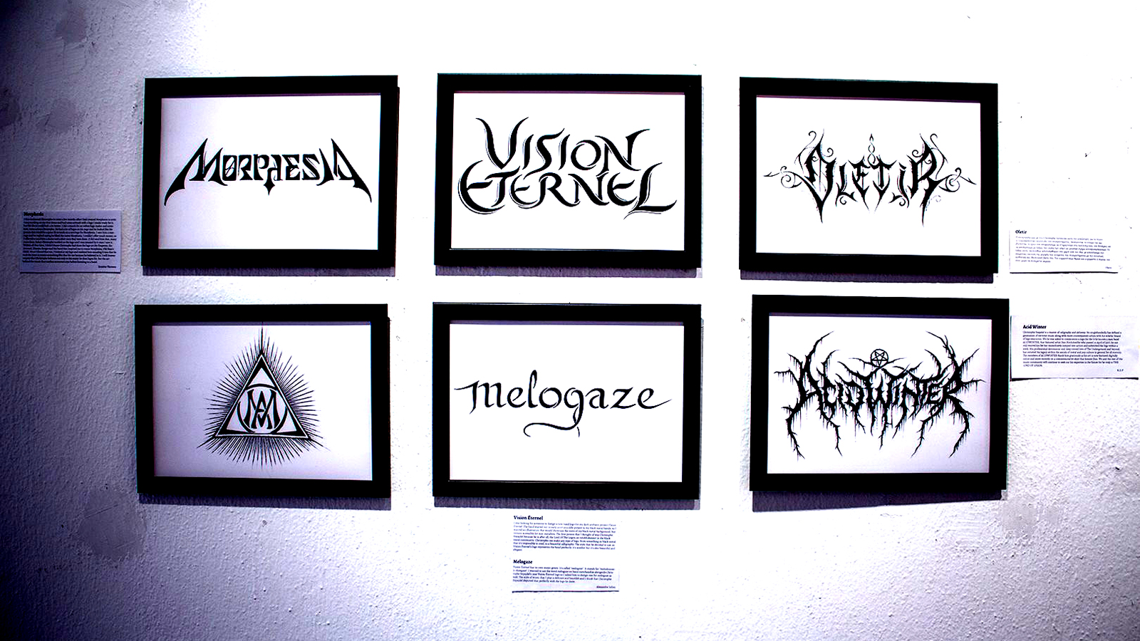 Vision Éternel Logo Displayed At Christophe Szpajdel's A Journey Into The Lost Homelands Exhibition
