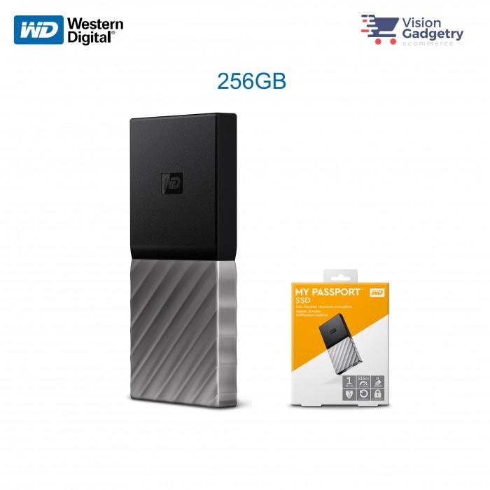 WD Western Digital MY Passport External Portable SSD 256GB 515MB/S USB 3.1