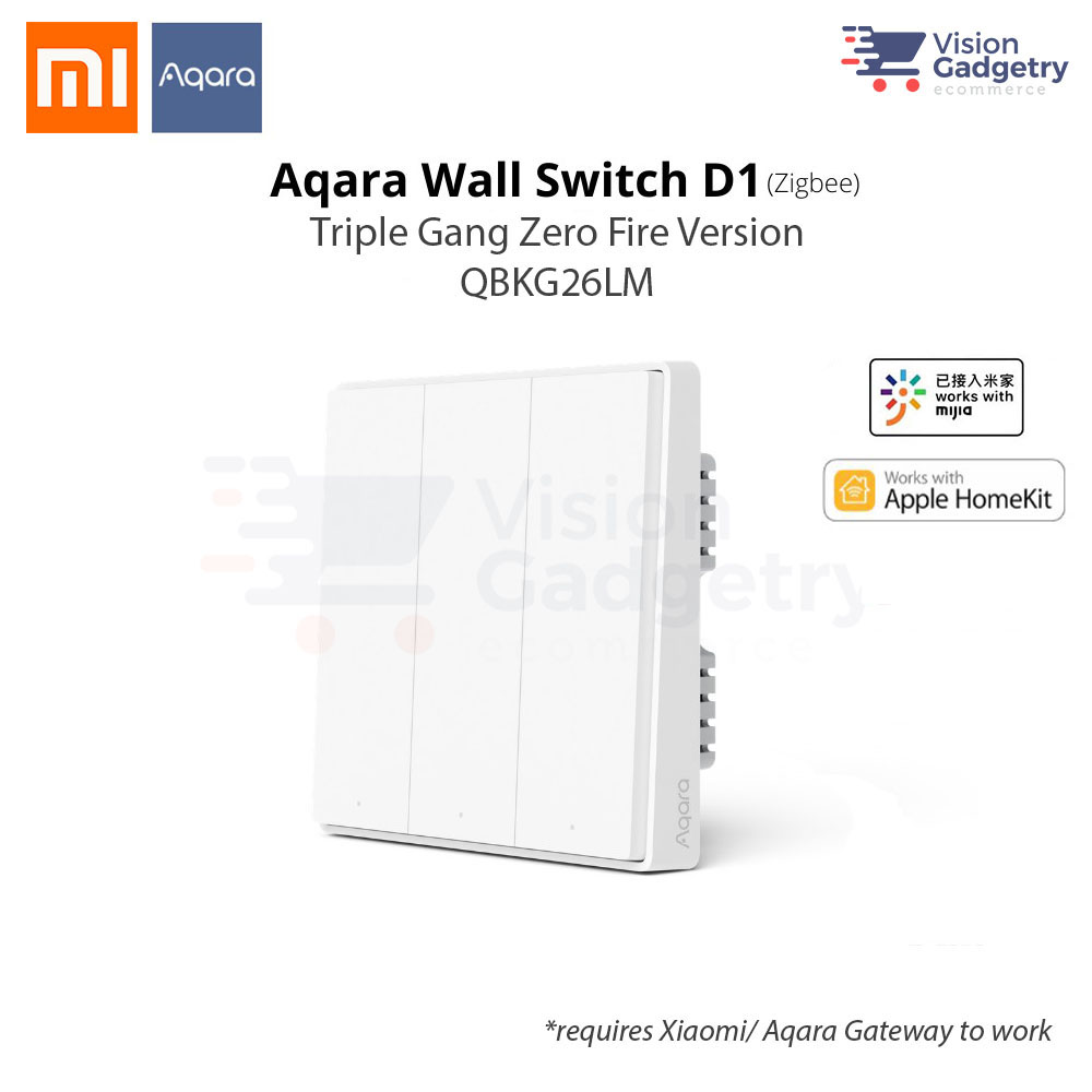 Xiaomi Aqara Smart Home Switch D1 Wall Plug Triple Gang