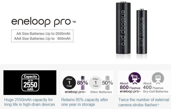 Panasonic Eneloop Pro BQ-CC55 Quick Charger Kit AA