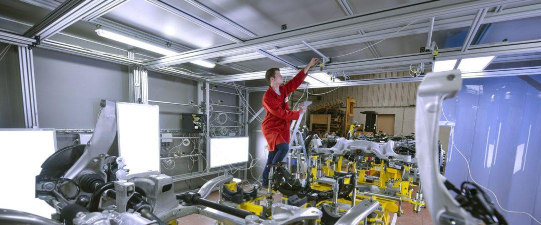 Travail sur une machine de vision Jaguar