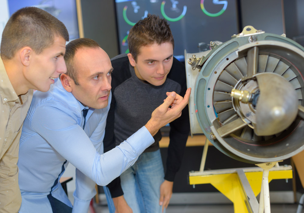 Vision industrielle dans secteur aéronautique