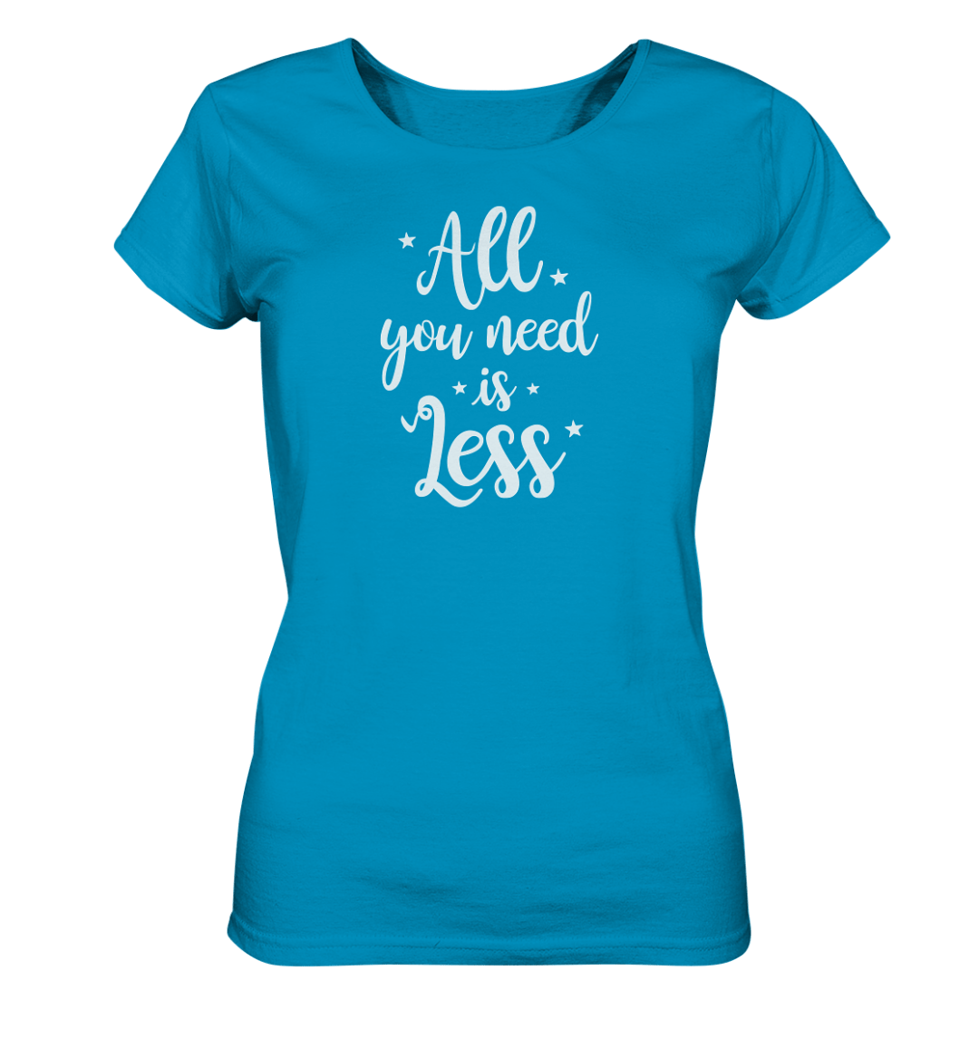 All You Need is Less Damen Shirt.