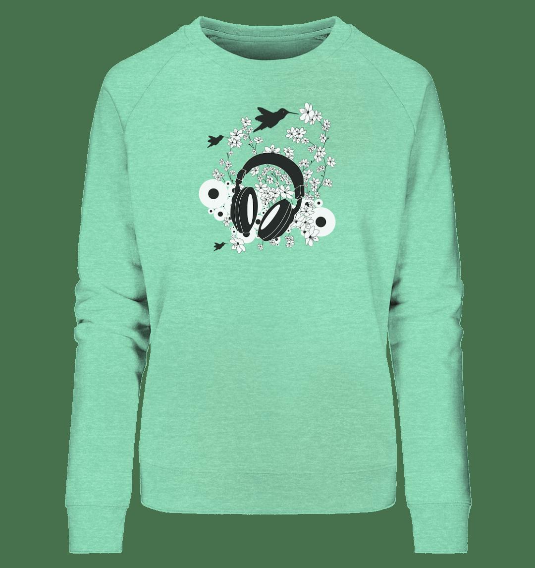 front ladies organic sweatshirt 84e5bd Cherry Blossom Sound - Ladies Organic Sweatshirt