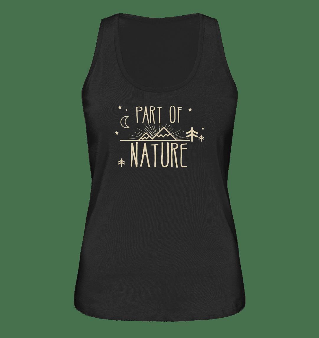 Part Of Nature. Bio Baumwoll Damen Tank Top in verschiedenen Farben