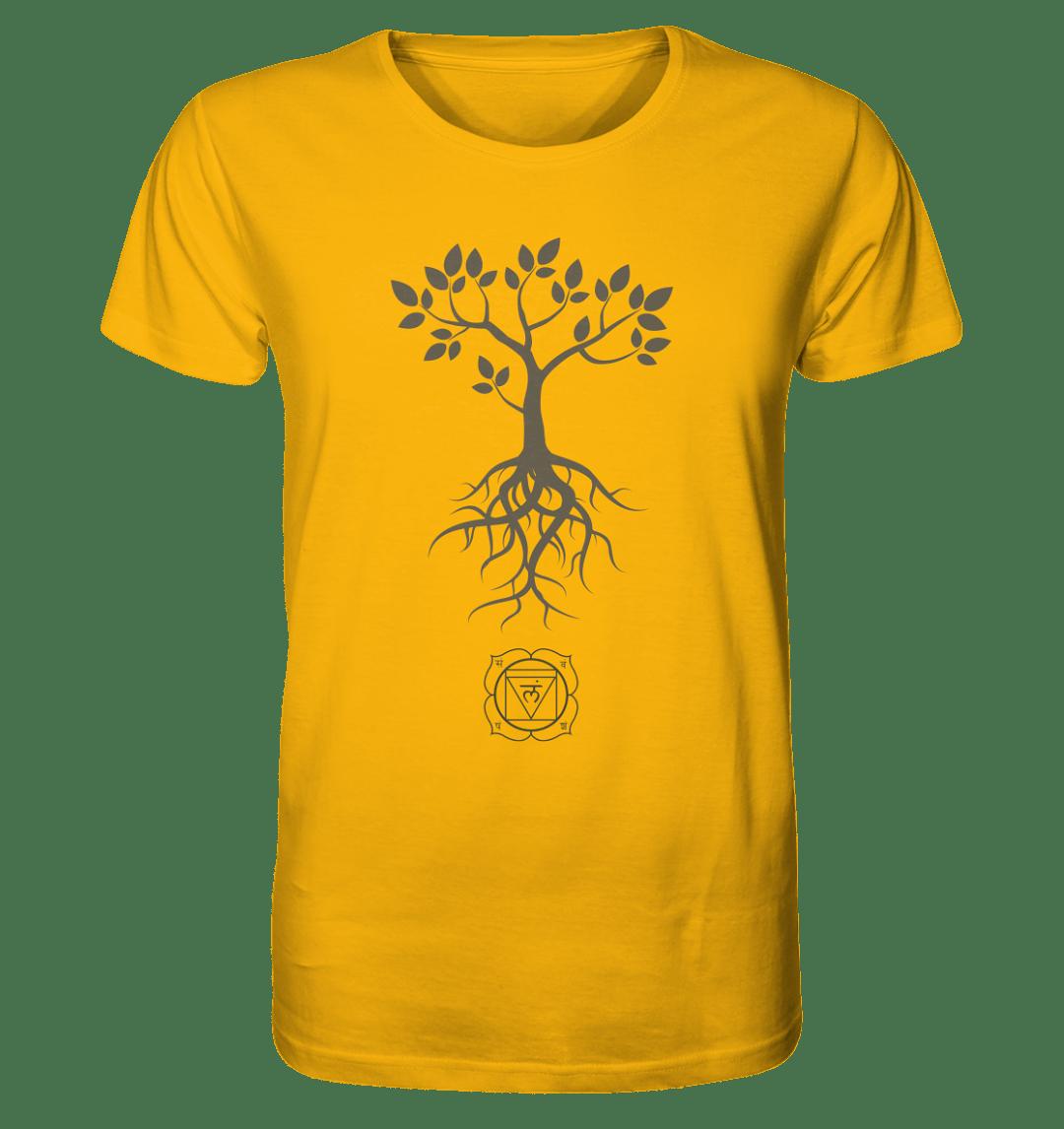 front organic shirt fab40d Muladhara Chakra - Bio Baumwoll T-Shirt Herren