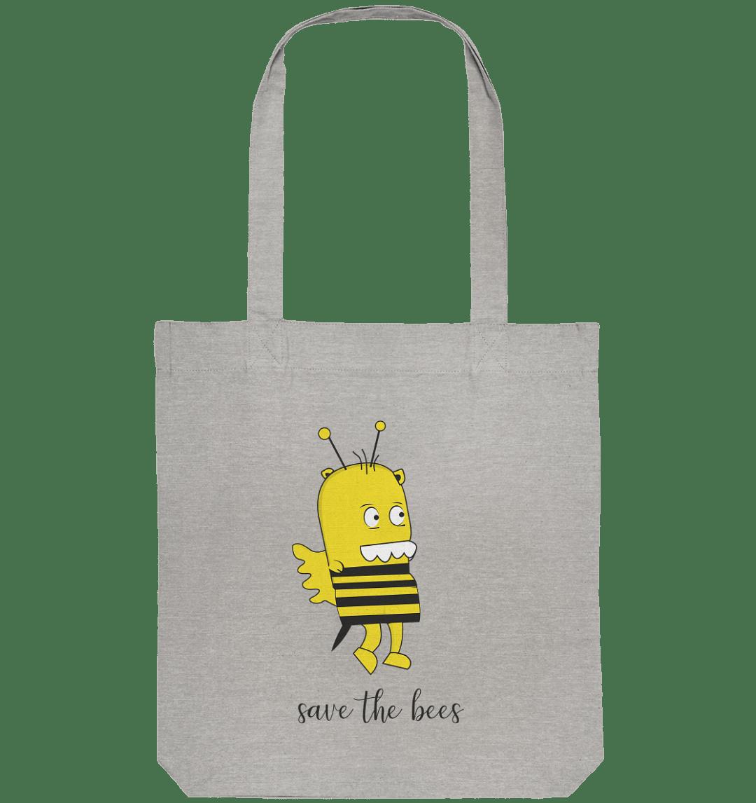 Save the Bees Motiv auf einer Tragetasche mit langem Hänkel.