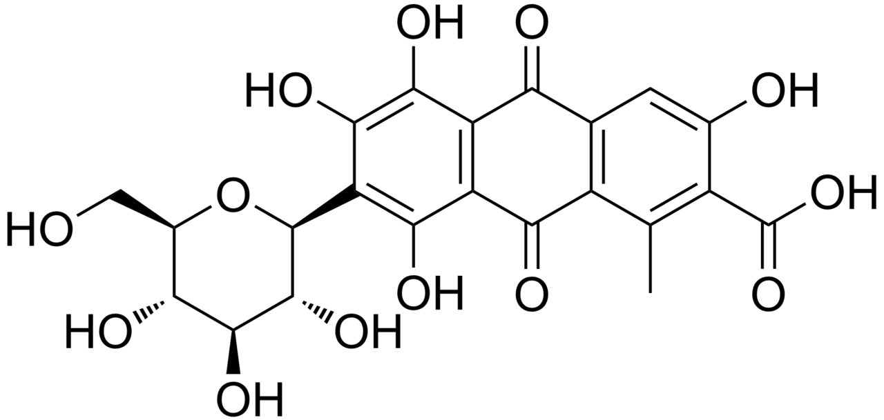chemical structure of carminic acid