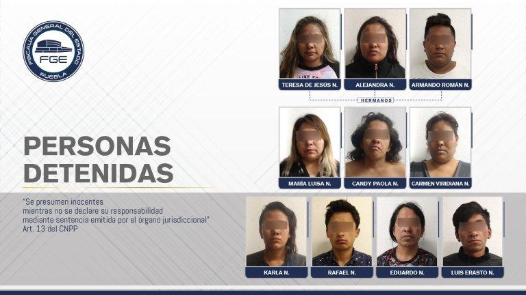 FISCALÍA DETUVO A 10 PERSONAS DURANTE CATEO EN ANALCO