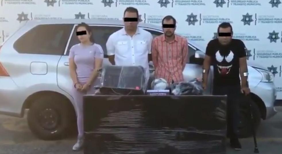 DETUVO SSC DE PUEBLA A CUATRO PROBABLES ASALTANTES DE CASA HABITACIÓN