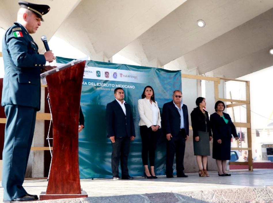 SE CONMEMORA EN HUEJOTZINGO EL DÍA DEL EJÉRCITO MEXICANO