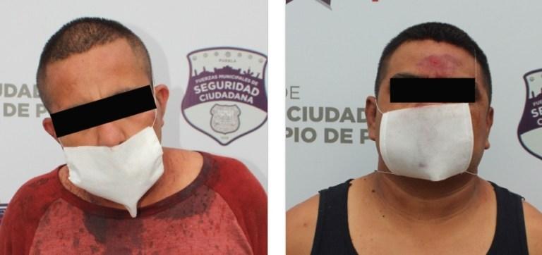 EN ACCIÓN EFECTIVA, DETUVO POLICÍA MUNICIPAL DE PUEBLA A PAREJA POR ROBO A NEGOCIO