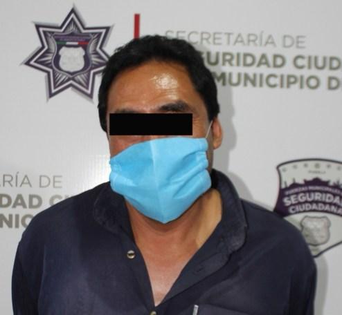 DETUVO POLICÍA MUNICIPAL DE PUEBLA A UN HOMBRE POR VIOLACIÓN EN AGRAVIO DE UNA MENOR DE 11 AÑOS DE EDAD