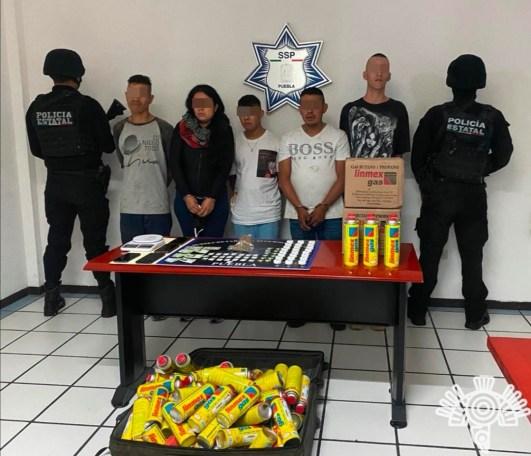 POLICÍA ESTATAL Y GUARDIA NACIONAL DETIENEN A CINCO LIGADOS A «LA UNIÓN TEPITO «