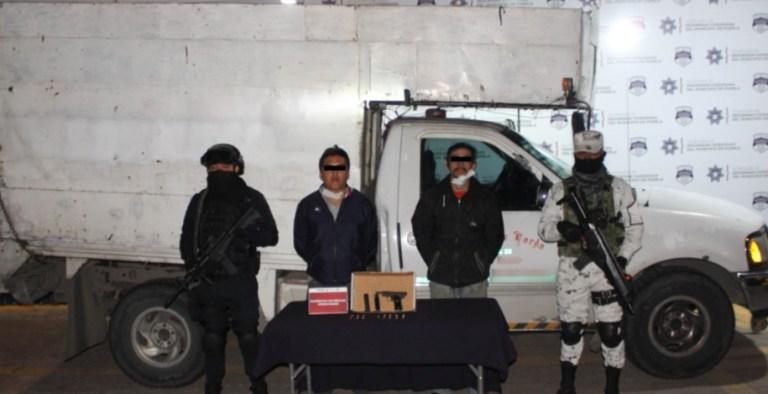 DETUVIERON GUARDIA NACIONAL Y POLICÍA MUNICIPAL DE PUEBLA A PAREJA POR PORTACIÓN ILEGAL DE ARMA DE FUEGO