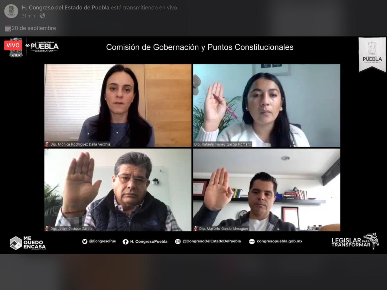 COMISIÓN DE GOBERNACIÓN DEL CONGRESO DEL ESTADO APRUEBA DESAPARICIÓN DEL AYUNTAMIENTO DE TEHUACÁN Y AVALA NOMBRAMIENTO DE CONCEJO MUNICIPAL