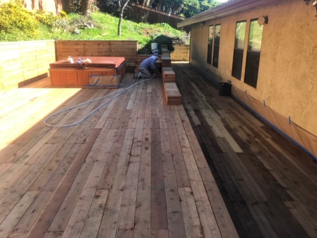Wood Staining Deck
