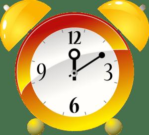 Old-fashioned alarm clock