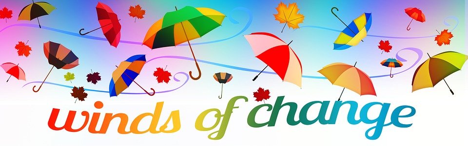 "Banner with words ""Winds of Change"" -Public Domain"