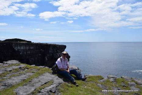 At the edge of Inishmore cliffs