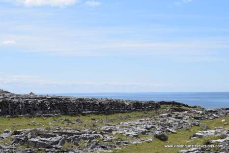 Inishmore approach to cliffs