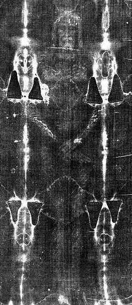 Photo-negative Image of Holy Shroud  front