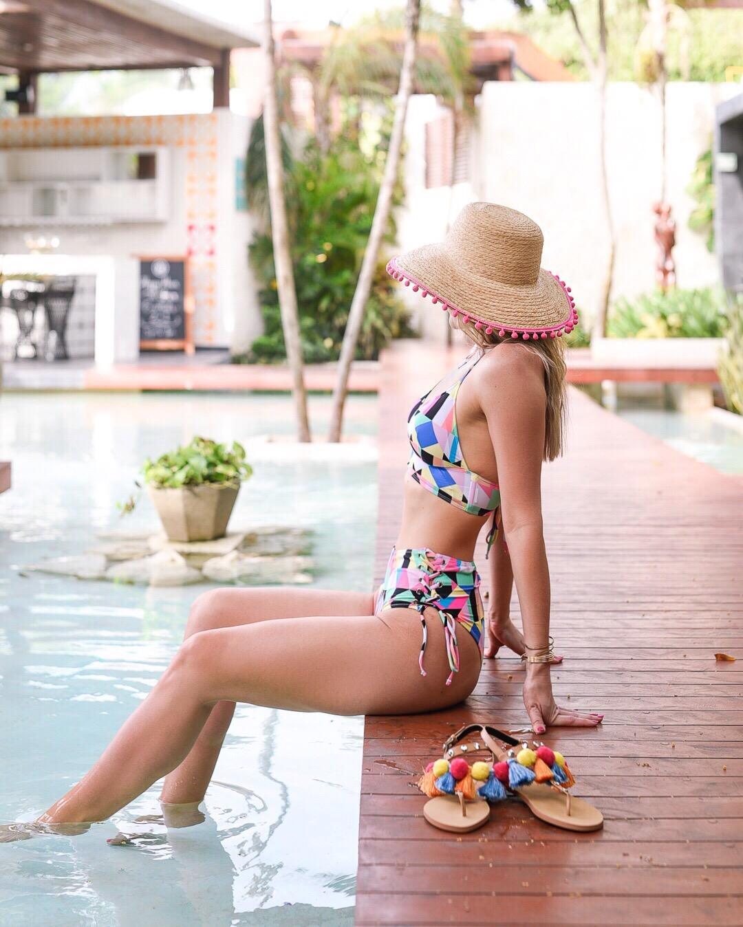 asos bikini in tulum mexico at mi amor