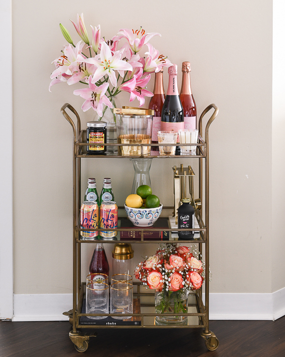 how to style a bar cart visions of vogue