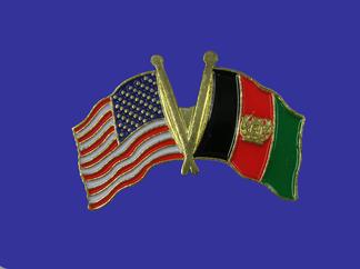USA+Afghanistan Friendship Pin-0