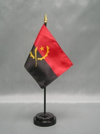 "Angola -4"" x 6"" Desk Flag-0"