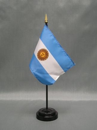 "Argentina-4"" x 6"" Desk Flag-0"