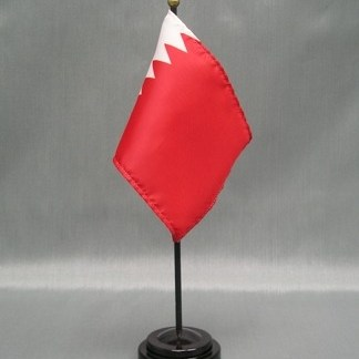 "Bahrain-4"" x 6"" Desk Flag-0"