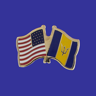 USA+Barbados Friendship Pin-0