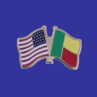 USA+Benin Friendship Pin-0
