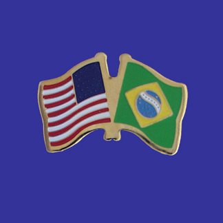 USA+Brazil Friendship Pin-0