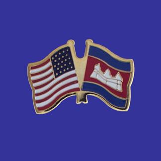 USA+Cambodia Friendship Pin-0