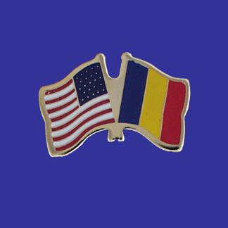 USA+Chad Friendship Pin-0