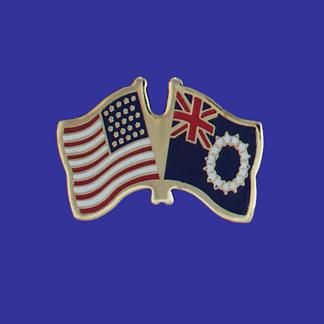 USA+Cook Islands Friendship Pin-0