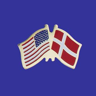 USA+Denmark Friendship Pin-0