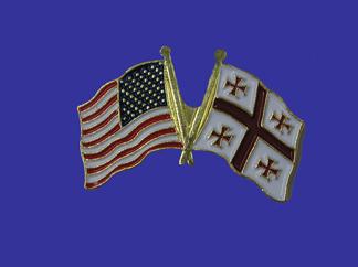 USA+Georgia Republic Friendship Pin-0