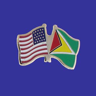 USA+Guyana Friendship Pin-0