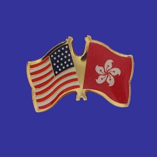 USA+Hong Kong Friendship Pin-0
