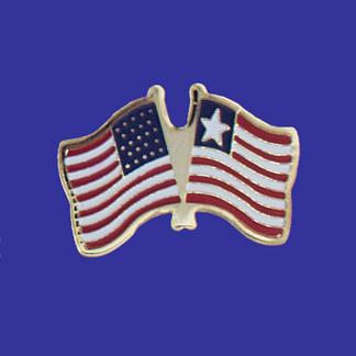 USA+Liberia Friendship Pin-0