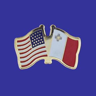 USA+Malta Friendship Pin-0