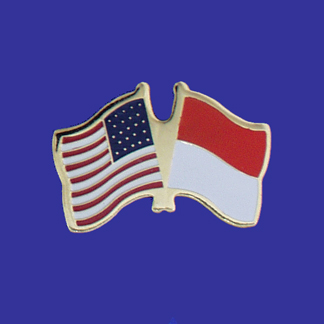 USA+Monaco Friendship Pin-0