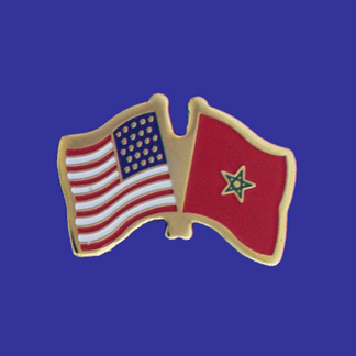 USA+Morocco Friendship Pin-0