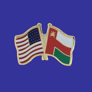 USA+Oman Friendship Pin-0