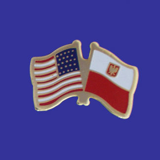 USA+Poland Friendship Pin-0