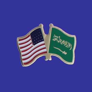 USA+Saudi Arabia Friendship Pin-0