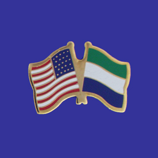 USA+Sierra Leone Friendship Pin-0